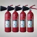 Kohlendioxid-Feuerlöscher 2 kg 4 Stück DIN EN