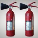 Kohlendioxid-Feuerlöscher 2 kg 2 Stück DIN EN