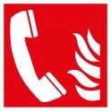 Symbol Brandmeldetelefon ISO 7010
