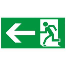 Rettungsweg Links ISO 6309