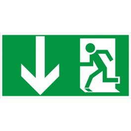 Rettungsweg durch Notausgang ISO 6309