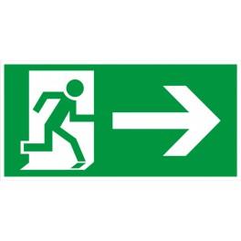 Rettungsweg rechts ISO 6309