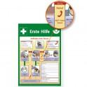Erste Hilfe Anleitung für Defibrillator
